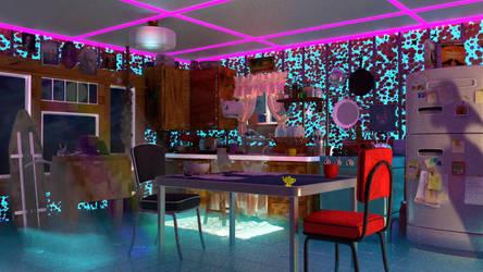 weird kitchen by ZAHBOD