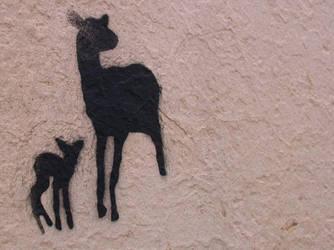 Fawn Stencil by berkowski