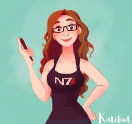 Quick selft portrait by Katikut