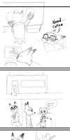 Cafe AU comic by Lucky13spirits