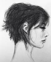 Side Portrait of a Woman by Adonenniel