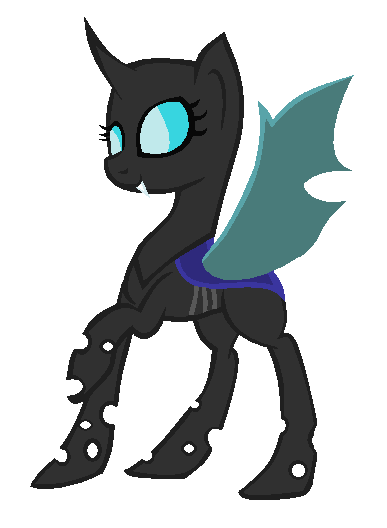 Changeling Pony Base REMADE by pototao