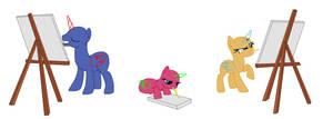 Crappy Base- Pony Artists by pototao