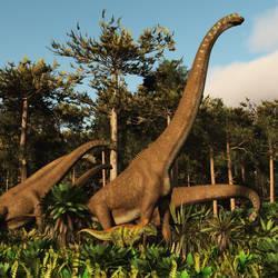 Girafatitan: Tendaguru Formation 155 Ma by PrehistoricArt