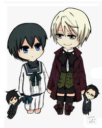 Young Ciel and Alois by hakuchee