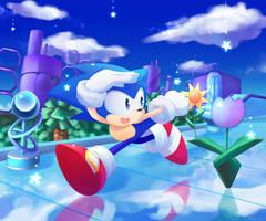 Sonic CD contest winner - Metallic Blue by natsu-no-hi
