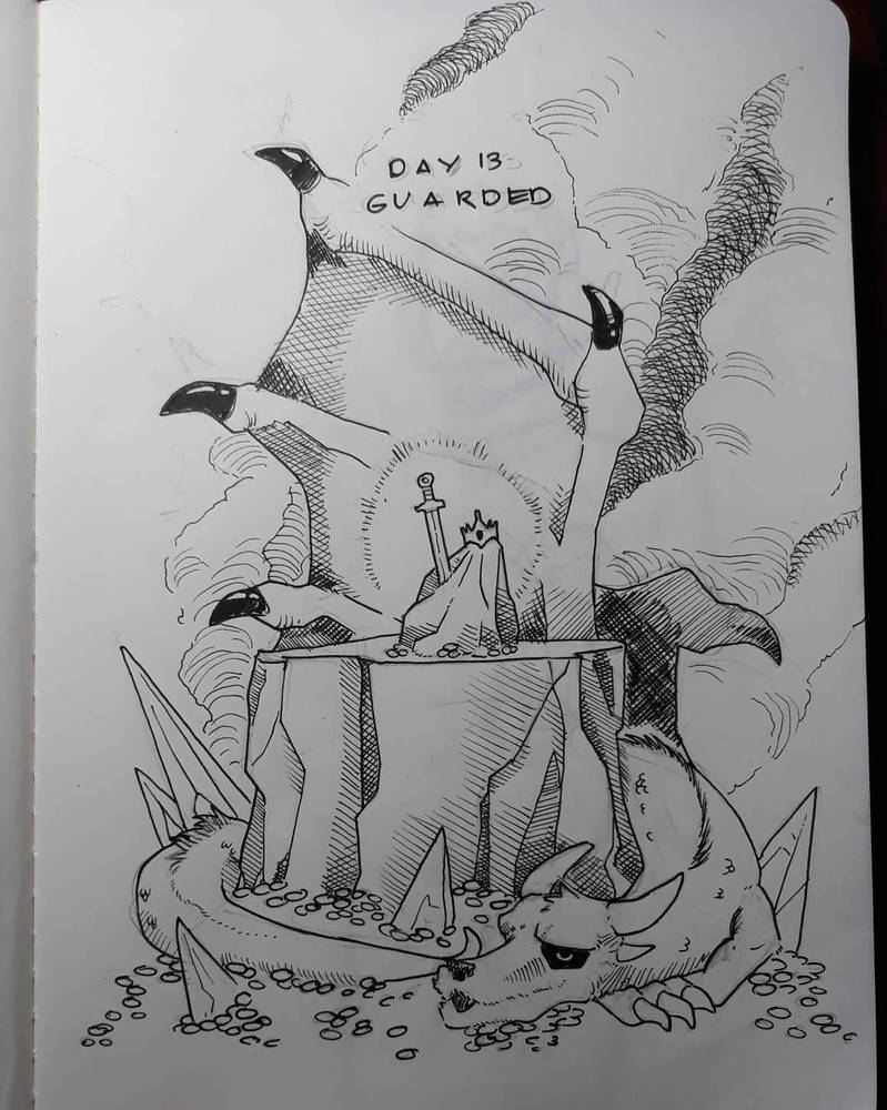 Inktober 2018 Day 13: Guarded by AdamFegarido