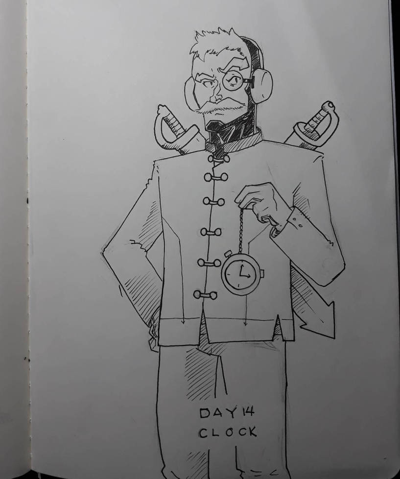 Inktober 2018 Day 14: Clock by AdamFegarido