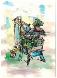 Flower Grill Pot by MiffArte