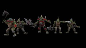 WIP warhammer Ork boyz1 by jibicoco