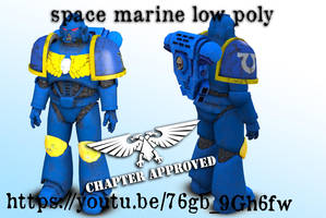 space marine for poser work in progress by jibicoco