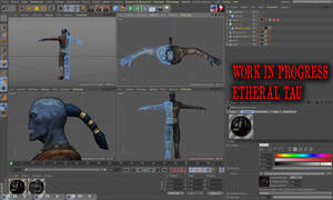 Workinprogress tau etheral daz3d poser pro w40k by jibicoco