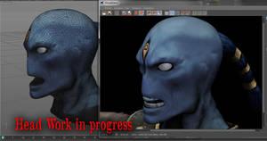 Head Work In Progress etheral tau by jibicoco