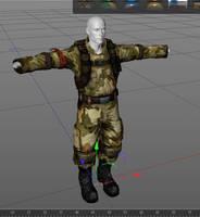Mercenary work in progress for daz3d and poser pro by jibicoco