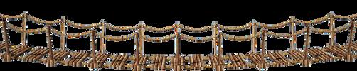 Wooden Bridge 3-A | Suspension Bridge 3-A | PNG by fumar-porros