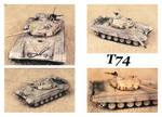 Soviet  T-74 by Geosammy