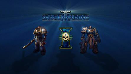 Space Marine Desktop Wallpaper by Geosammy