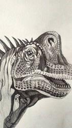 Giraffatitan Head Study (Pencil Sketch) by BenitoDLR
