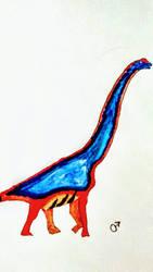 Giraffatitan Male Study (Watercolor Sketch) by BenitoDLR