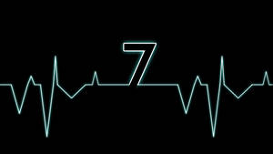 Blue Electrocardiogram Windows 7 Wallpaper by JaidynM