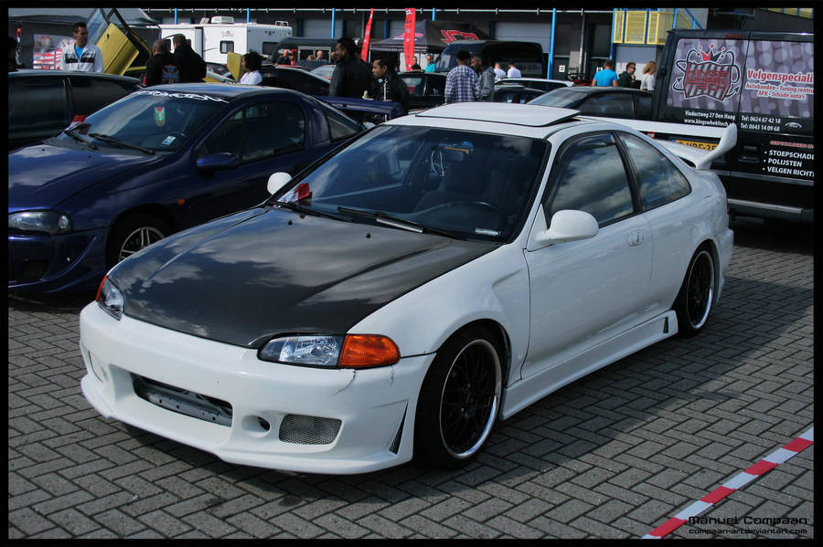 1994 Honda Civic Coupe By Compaan Art On Deviantart