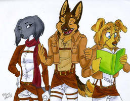 Art Trade-Dogs on Titan by Stray-Sketches