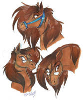 Stray horses doodle by Stray-Sketches