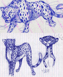 cheetah notebook doodles by Stray-Sketches
