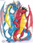 AT-Dragon Duo by Stray-Sketches