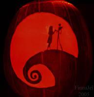 Jack and Sally Pumpkin by FinnaJei