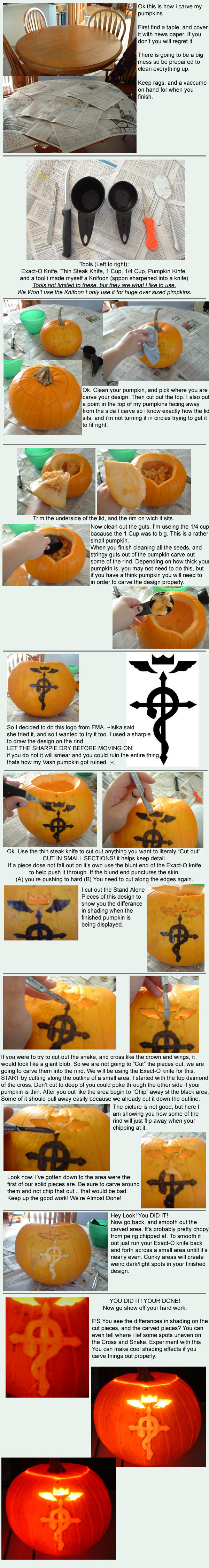 Pumpkin Carving Tutorial by FinnaJei