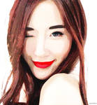 Elle Yamada Digital Painting by xavierlokollo