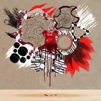 Bearbrick abstract by xavierlokollo