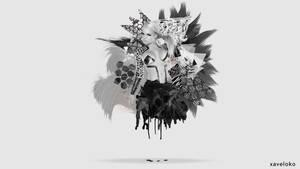 Jesse Jane Abstract Wallpaper by xavierlokollo