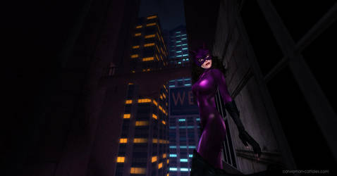 Catwoman In The City by chrisdee