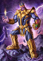 Thanos, the Mad Titan by markyongart