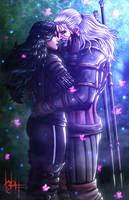 Geralt and Yennefer The Witcher 3 by SirWolfgang