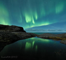 Aurora Reflections at Mjelle by SindreAHN