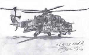 Mil Mi 24 Hind D by SindreAHN