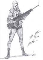 Sniperwolf, Metal Gear Solid by SindreAHN