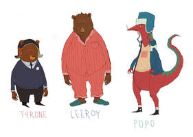 leeroy and popo charactersheet by louisroskosch