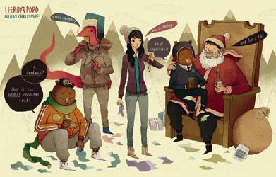 leeroy and popo christmas by louisroskosch