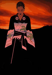 Ebony Sunset by illikaspain