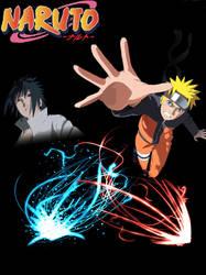 Naruto and Sasuke by tylerswim12