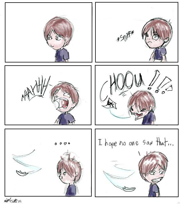 Odd Sneeze by Delvennerim
