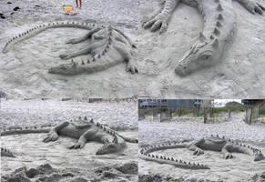 Sand Dragon by Delvennerim