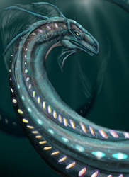 Sea Serpent by Delvennerim