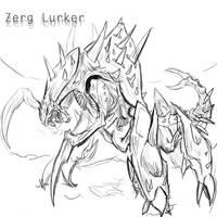 Zerg Lurker by Delvennerim