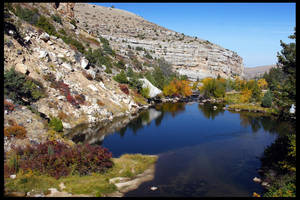 Fall in Sinks Canyon by Nestor2k