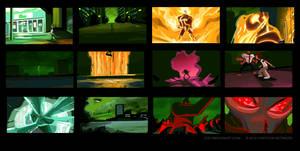 Ben 10: Destroy All Aliens Color Keys by joeymasonart